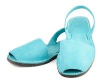 Sandalias de la turquesa Foto de archivo libre de regalías