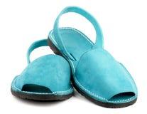 Sandalias de la turquesa Fotos de archivo