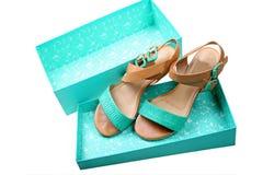 Sandalias de las mujeres Imagen de archivo libre de regalías