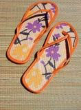 Sandalias de las pinzas Foto de archivo libre de regalías