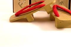 Sandalias de madera del Geta I Imagen de archivo libre de regalías