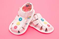 Sandalias del bebé Foto de archivo