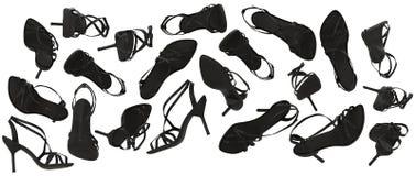 Sandalias del tacón alto Imagen de archivo libre de regalías