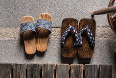 Sandalias japonesas Imágenes de archivo libres de regalías