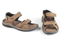 Sandalias marrones claras del color imagen de archivo