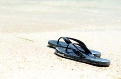 Sandalias negras Foto de archivo libre de regalías