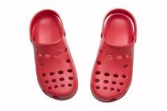 Sandalias rojas Fotografía de archivo libre de regalías
