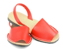 Sandalias rojas Avarcas Imagen de archivo