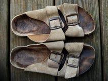 Sandalias viejas Fotografía de archivo libre de regalías