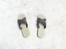 Sandalo di vista superiore immagini stock libere da diritti
