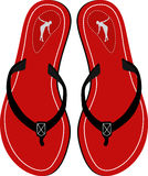 Sandals. Amazing Red sandals. Vector illustration Stock Photos