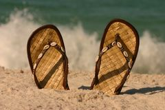 Sandals And Surf Royalty Free Stock Image