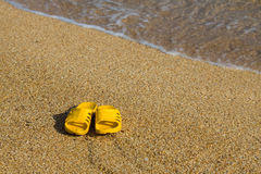 Sandals on beach. Stock Images