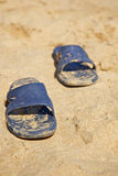 Sandals at beach Royalty Free Stock Images