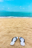 Sandals on the beach Stock Image