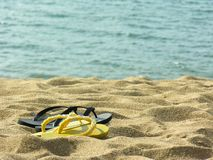 Sandals at the beach - Brazil Royalty Free Stock Photography