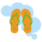 Sandals Cartoon Illustration Editable With Background Royalty Free Stock Photos