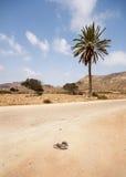 Sandals in the desert. Cabo de Gata Natural Park Stock Photo