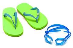 Sandals en beschermende brillen Stock Fotografie
