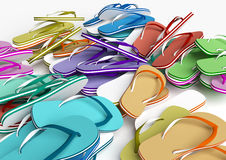 sandals in för misslyckandear för bakgrundsstrandflip isolerade ställde illustrationen vektorn vit royaltyfri illustrationer