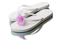 Sandals and flower Royalty Free Stock Photo