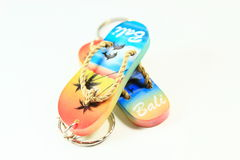Sandals key chain Stock Images