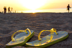 Free Sandals On Sand Royalty Free Stock Photography - 15476537