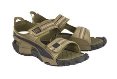 Sandals op een wit Royalty-vrije Stock Foto