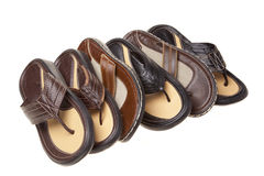 Sandals in a row Stock Photo