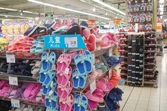 Sandals for sale Royalty Free Stock Images