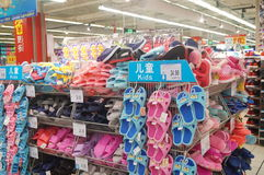 Sandals for sale Royalty Free Stock Photography