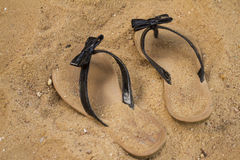 Sandals in the Sand Royalty Free Stock Images
