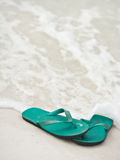 Sandals in the Seafoam Royalty Free Stock Photos
