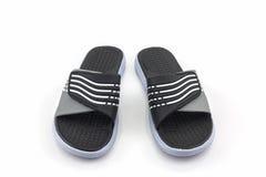 Sandals shoes. Black color flip flops. Royalty Free Stock Image