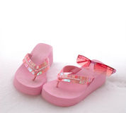 sandals snow sunglasses Royaltyfria Foton