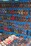 Sandals sold in Chatuchak Weekend Market in Bangkok Stock Photo