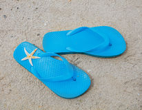 Sandals And Starfish Royalty Free Stock Photos