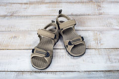 Sandals summer shoes Stock Images