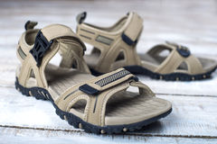 Sandals summer shoes Royalty Free Stock Photos