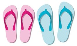 Sandals Thongs Colors Summer Footwear Royalty Free Stock Photography