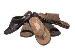 Sandals and Thongs in White Royalty Free Stock Images