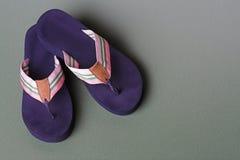 Sandals van de leren riem Stock Foto