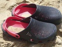 Sandals van het strand Stock Foto's