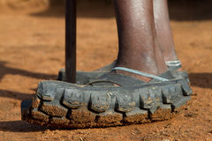 Sandals van Maasai stock foto