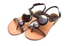 Sandals van vrouwen royalty-vrije stock foto