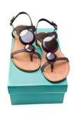 Sandals van vrouwen stock afbeelding