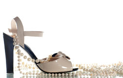 Sandals on a white background Stock Image