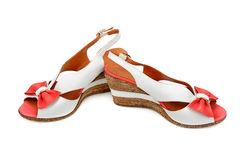 Sandals on white background Royalty Free Stock Photo