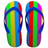 Sandalsobjecten illustratie stock illustratie