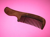 Sandalwood comb. Comb, Woman essential household items Stock Images